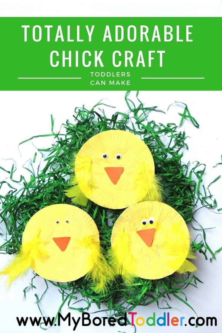 Easter Chick Craft For Toddlers Totally Adorable