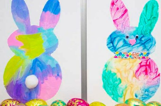 Easy Easter Bunny Painting Activity