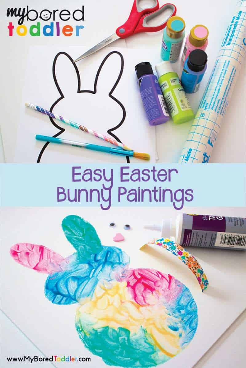 Easy Easter Bunny Painting Activity My Bored Toddler