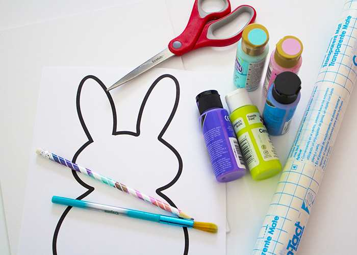 easy easter bunny painting activity for toddlers supplies