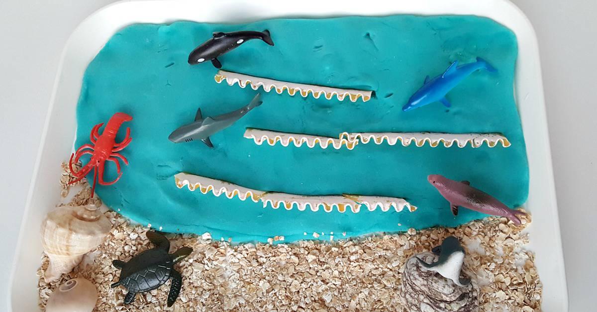 ocean play dough feature image