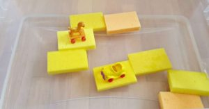 Water Play with Sponges for Toddlers