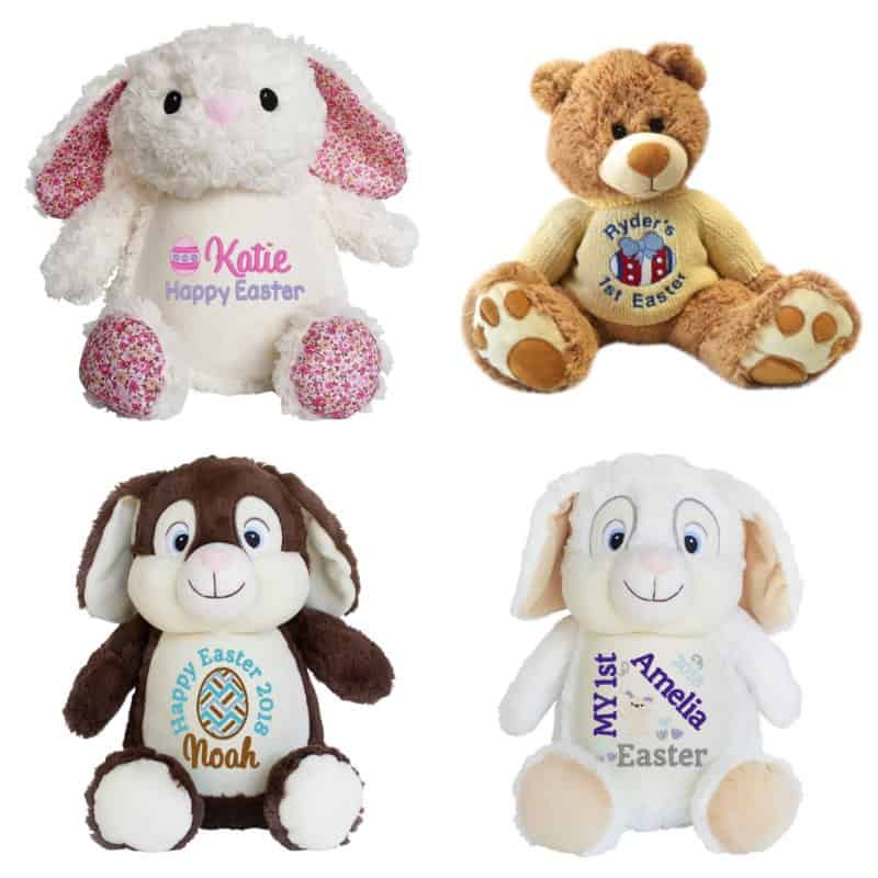 Non chocolate easter gifts for toddlers my bored toddler personalised easter teddy bears my teddy negle Image collections