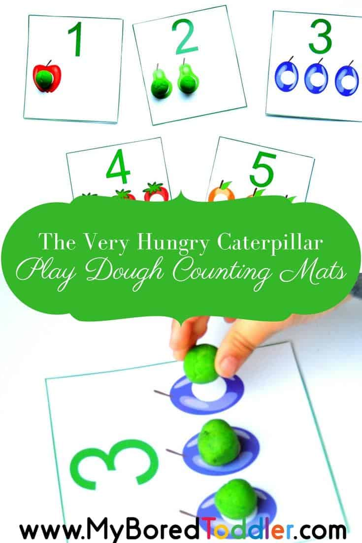 The very hungry caterpillar counting mats pinterest