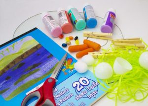 easter egg process painting for toddlers supplies