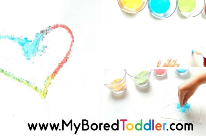Salt and Glue Process Art for Toddlers