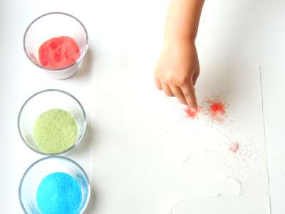 salt and glue process art activity for toddlers 4