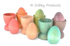 wooden stacking eggs