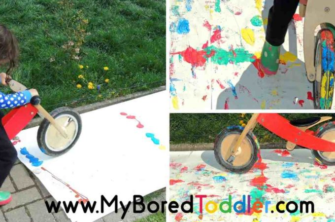 Giant Outdoor Painting for Toddlers