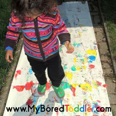 painting with boots