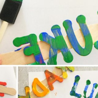 DIY foam name stamps facebook