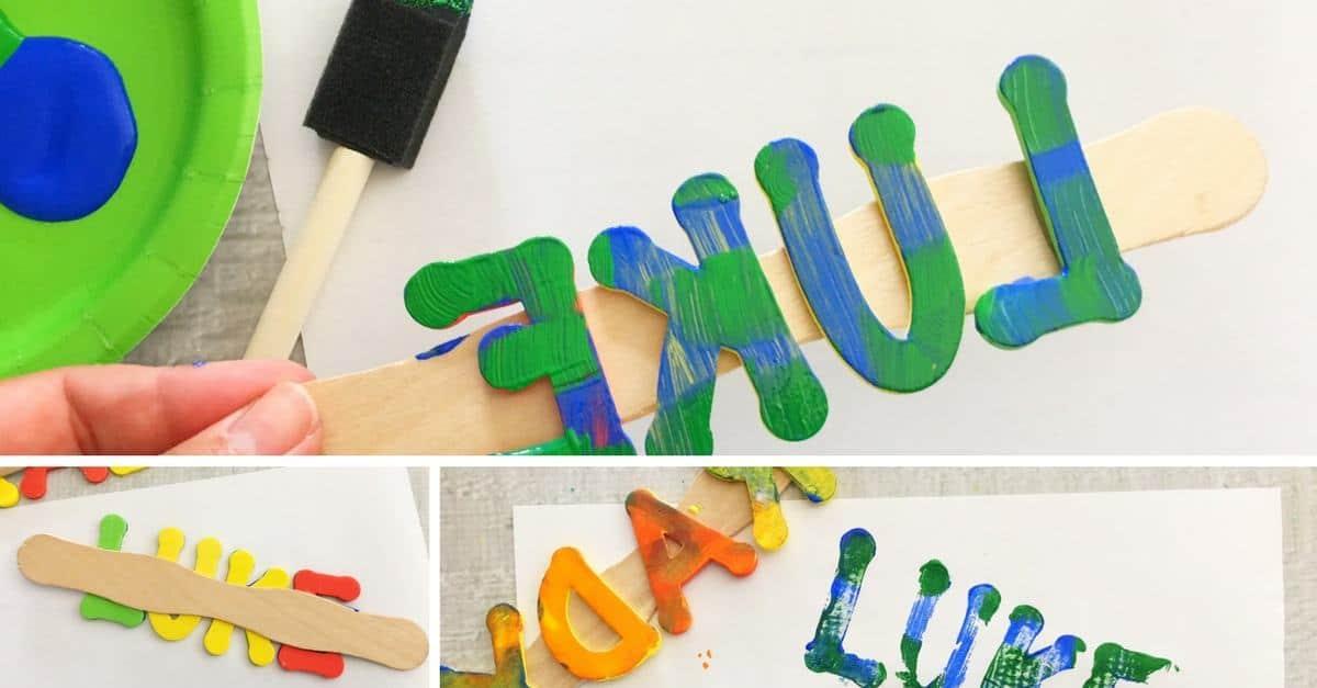 DIY foam name stamps facebook