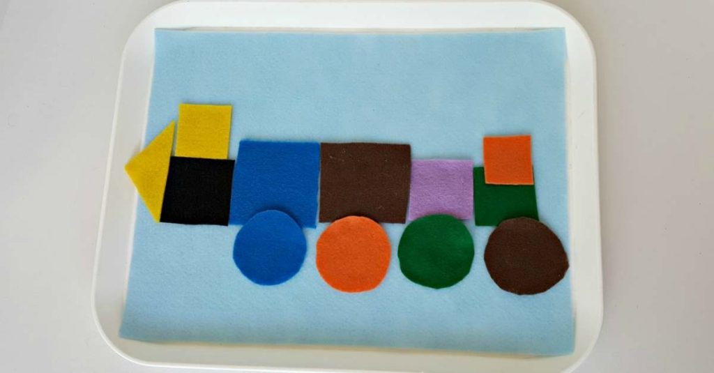 Felt Shape Sorting for Toddlers