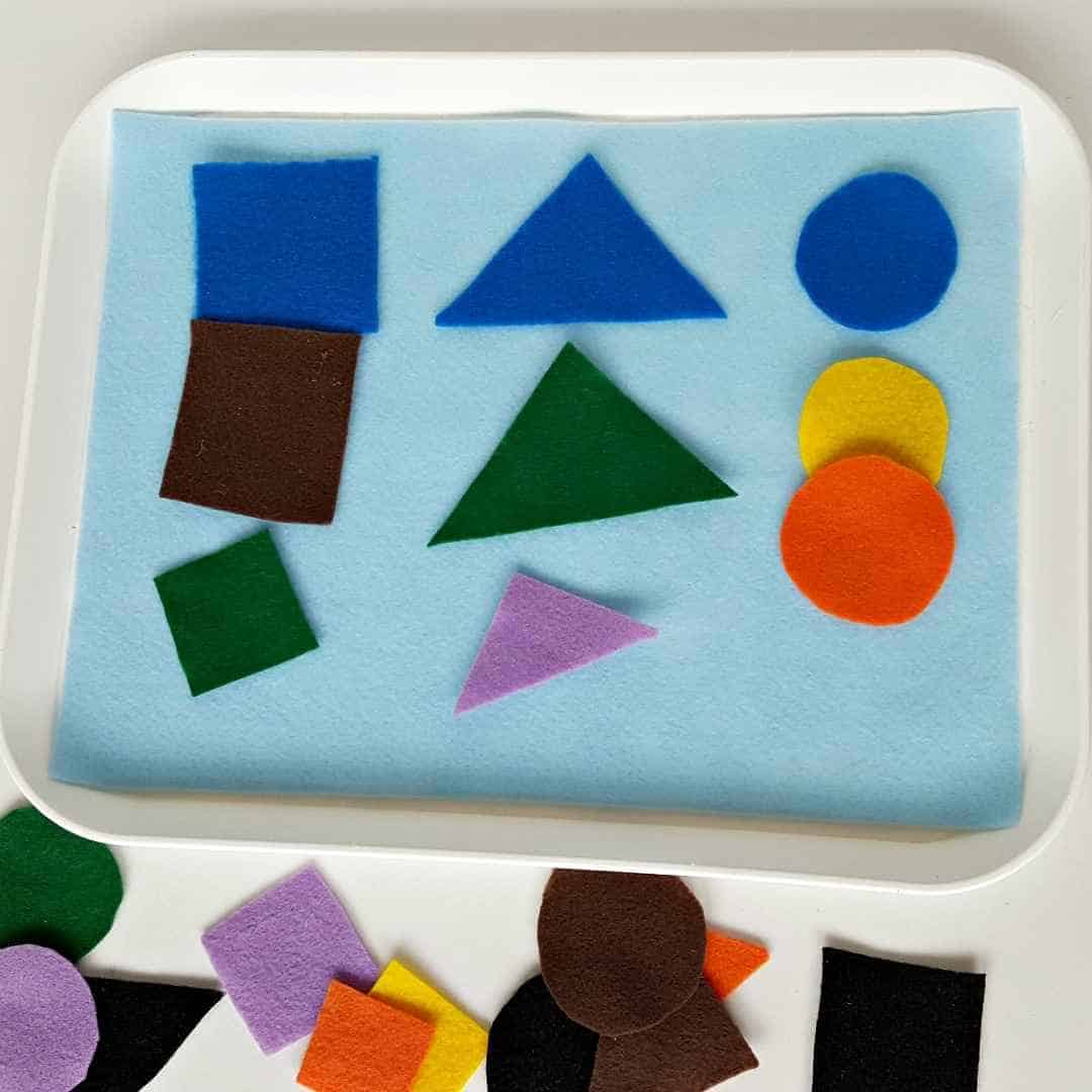 sorting shapes toddler activity
