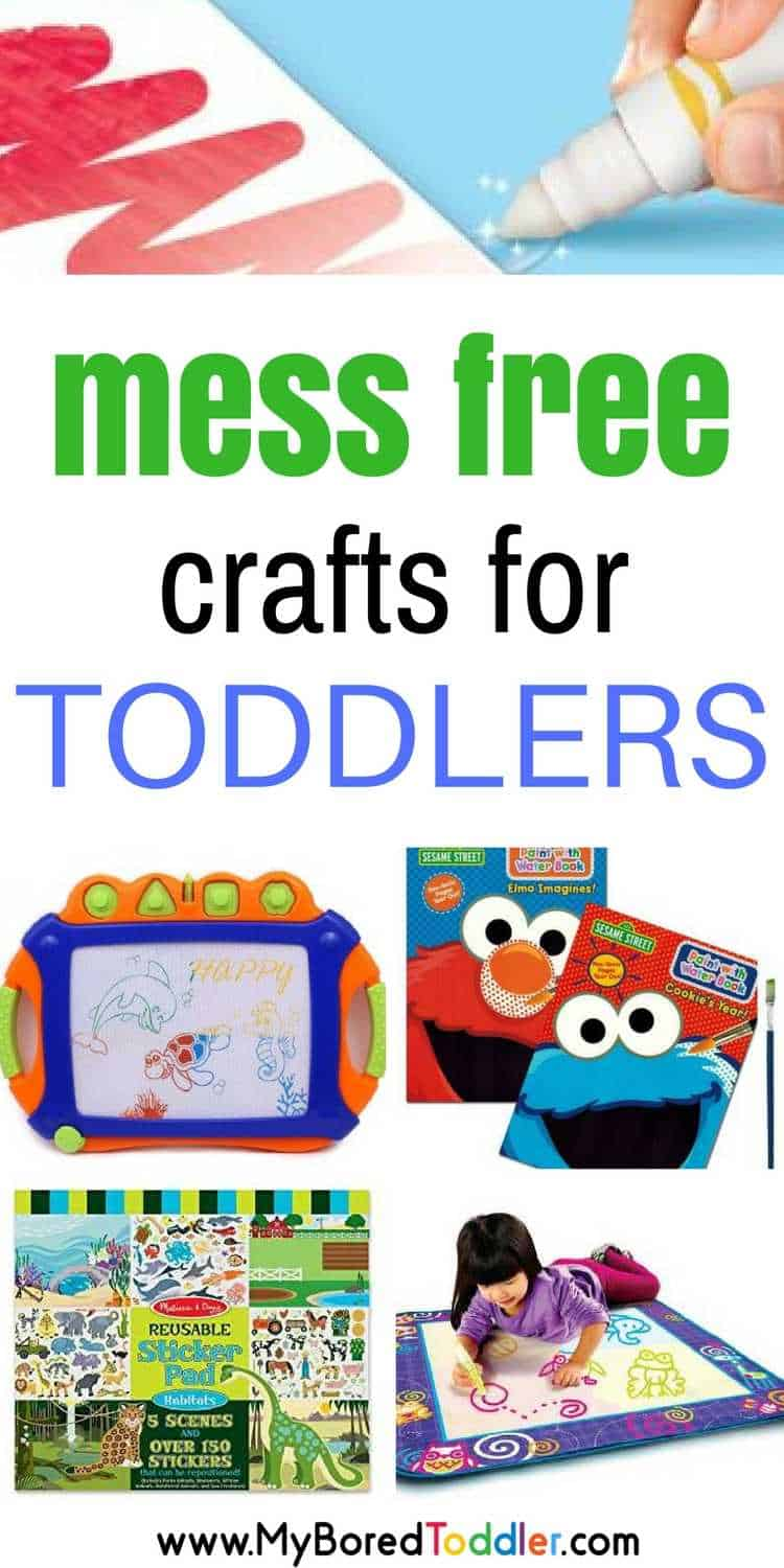 Mess free crafts for toddlers. These crafts and activities for toddlers are mess free but still creative. Great for travelling with a toddler or holidaying with a toddler when you don't want them to make a mess!