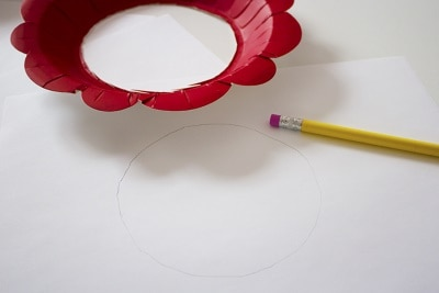 paper plate & fingerprint flower craft 3
