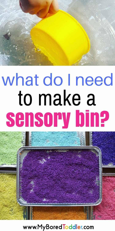 What do I need for a sensory bin?