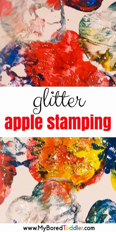 Glitter Apple Stamping