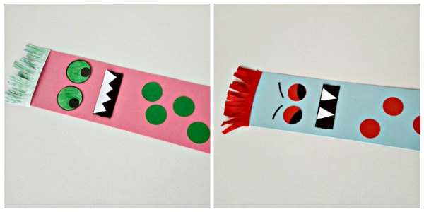 monster bookmark