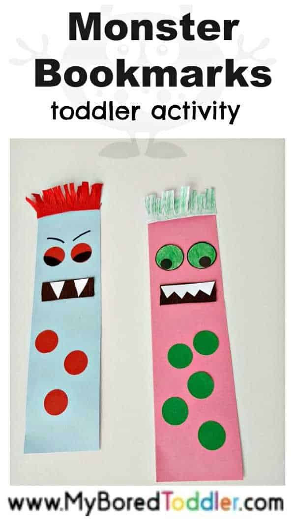 Monster Bookmark Craft