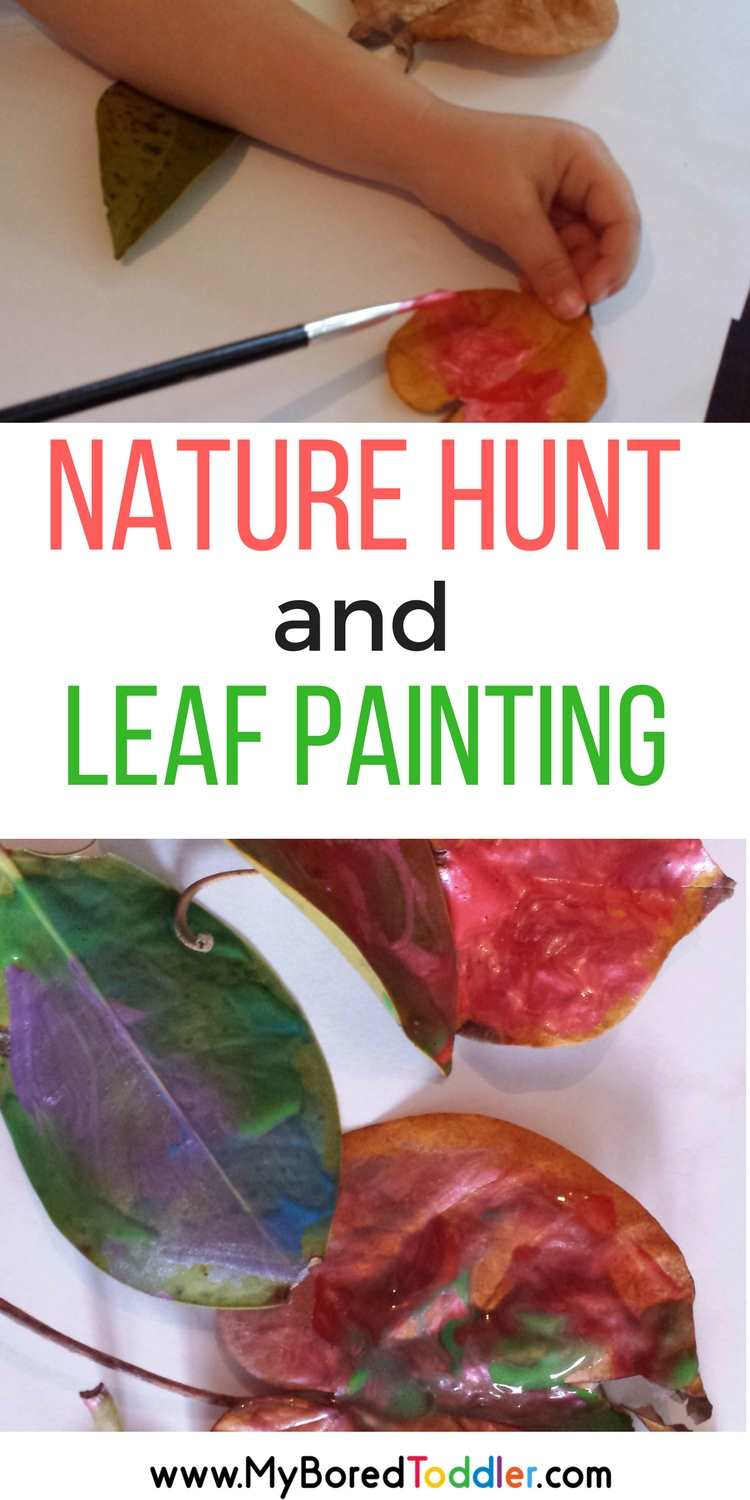 Nature Color Hunt and Leaf Painting
