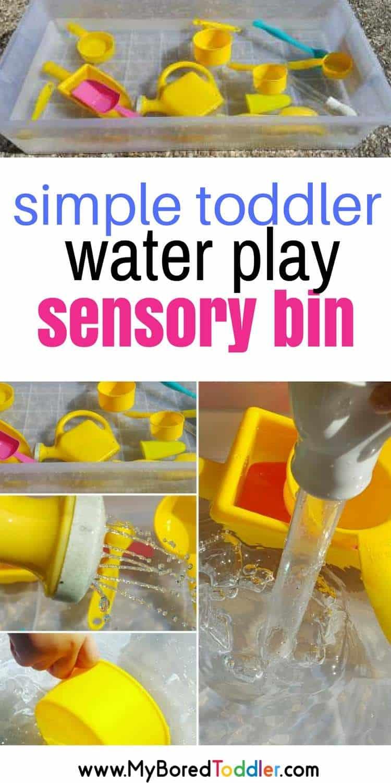simple toddler sensory bin water play for toddlers #waterplay #sensorybin