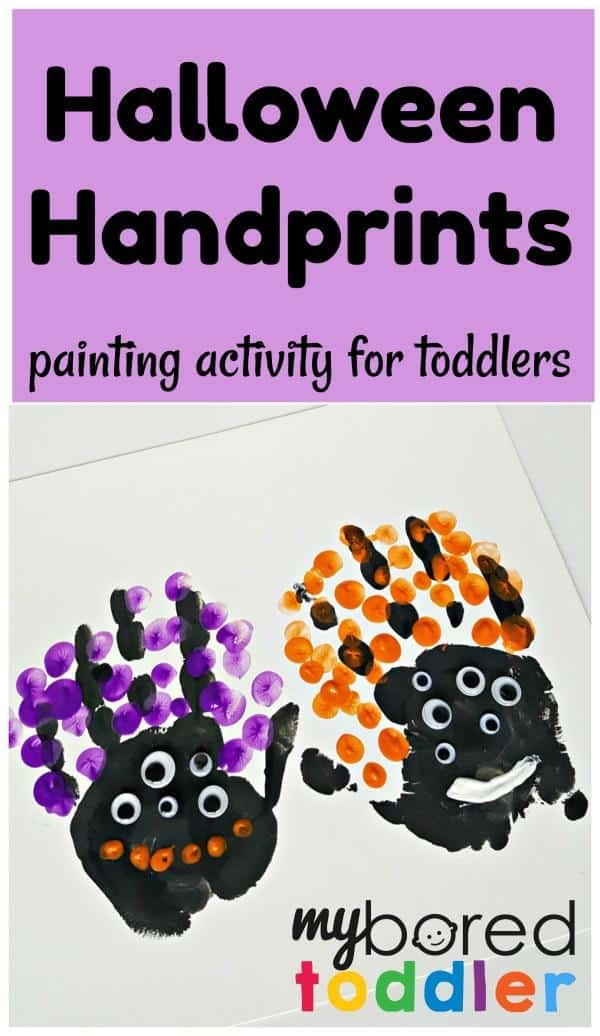 toddler halloween crafts handprint painting my bored toddler 3121