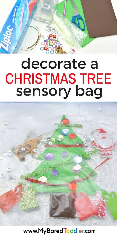 Toddler Christmas Tree Sensory Bag My Bored Toddler