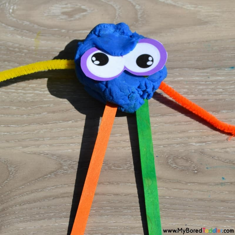 monster play dough invitation to play monster 1