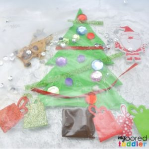 Toddler Christmas Tree Sensory Bag