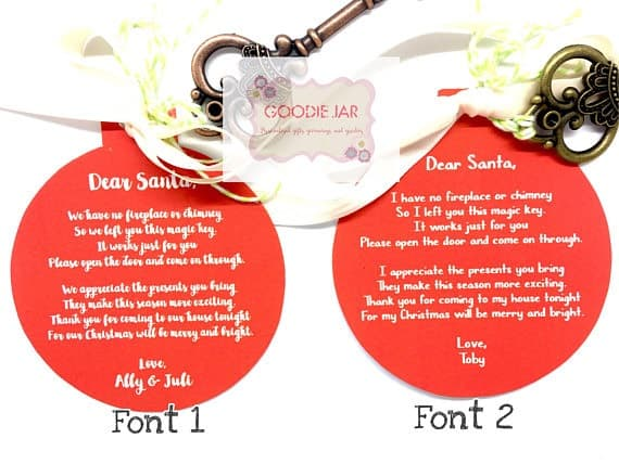 Santa Key personalized for Christmas