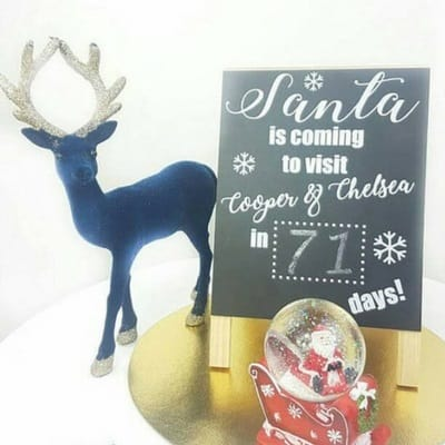 personalized Christmas count down