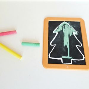 Chalkboard Christmas Tree Craft