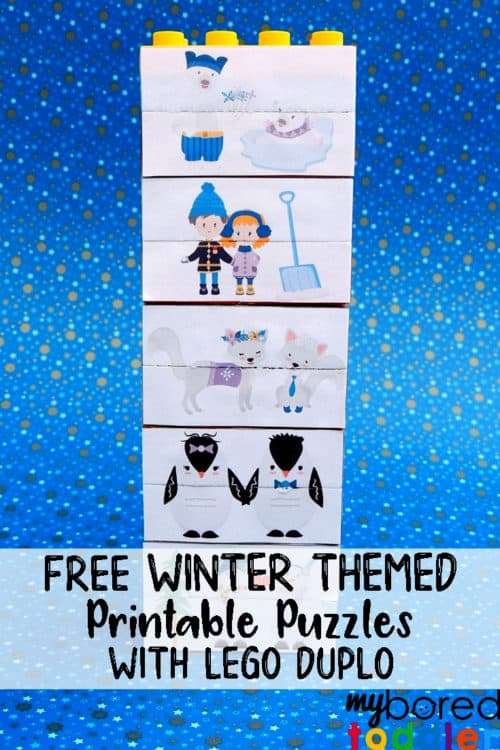 lego duplo toddler puzzle winter themed #toddleractivity #winteractivity #toddlerfun
