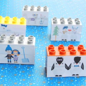 Winter themed Lego Duplo puzzle for toddlers