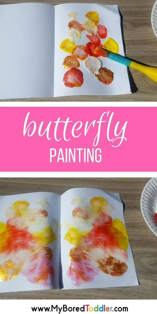 BUTTERFLY PAINTING FOR TODDLERS A FUN TODDLER PAINTING ACTIVITY #TODDLERPAINTING