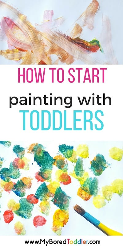 How to start painting with toddlers
