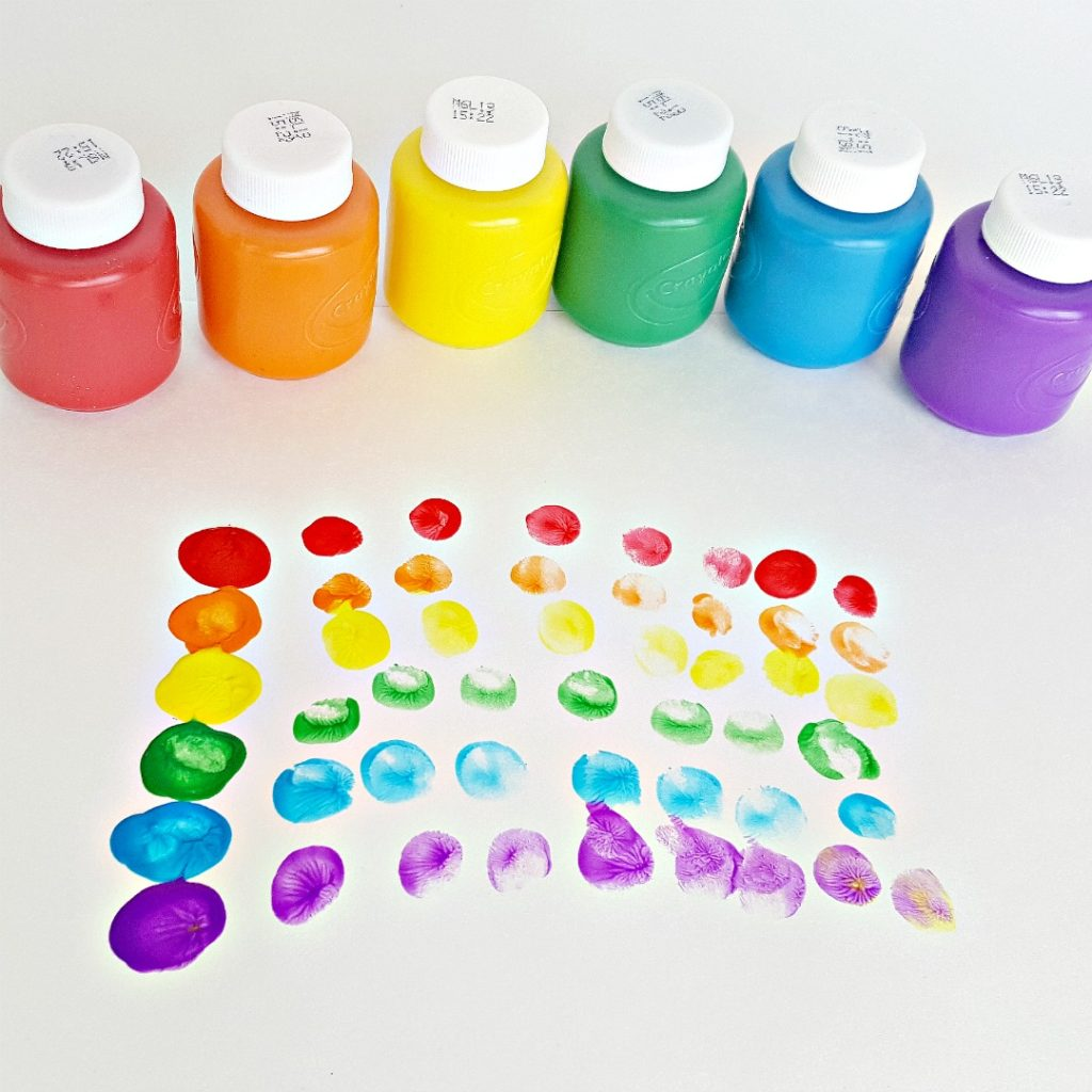 Finger Painting Rainbow