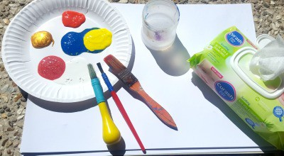 Toddler painting challenge what you need