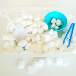Winter Sensory Bin for Toddlers