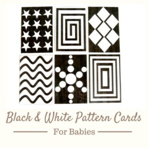 Black and White Pattern Cards for Baby Tummy Time