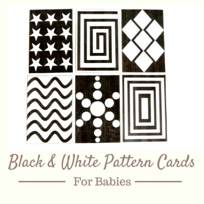 free printable black and white pattern cards for baby tummy time