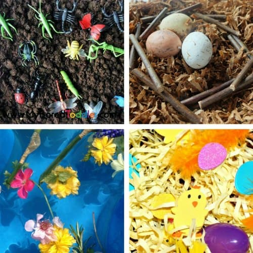 Spring Sensory Bins for Toddlers image 1