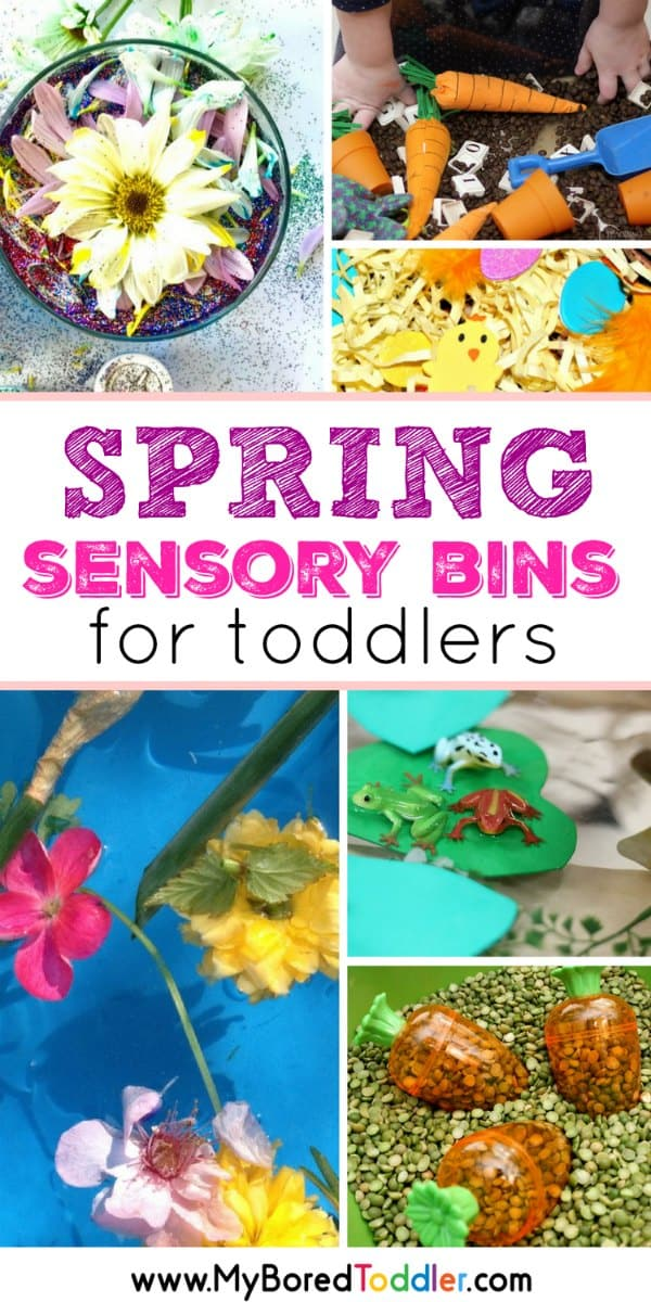 Spring Sensory Bins for Toddlers pinterest