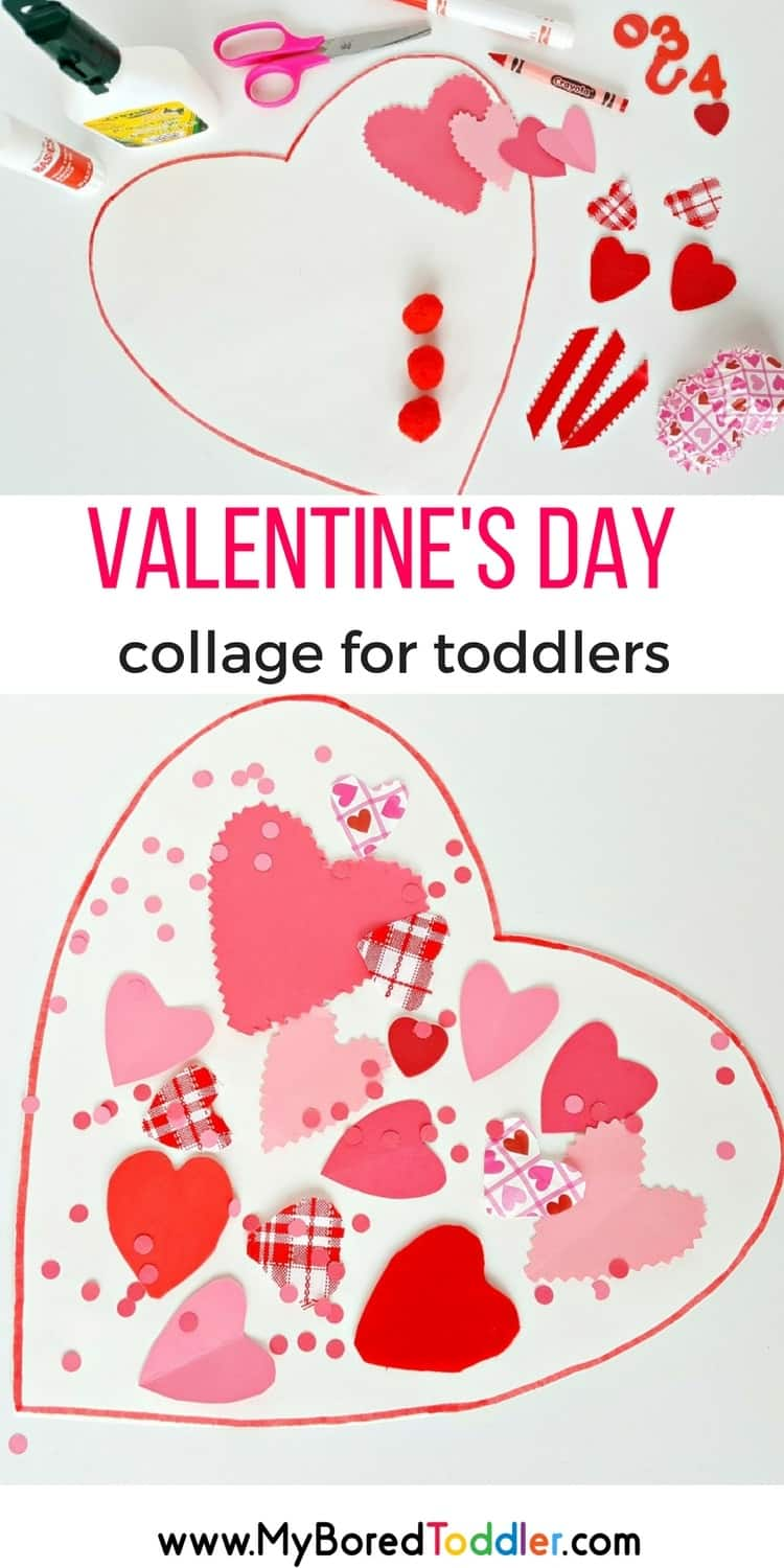 Valentine's Day Collage for Toddler's Pinterest
