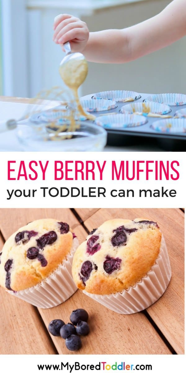 easy berry muffins your toddler can make pinterest