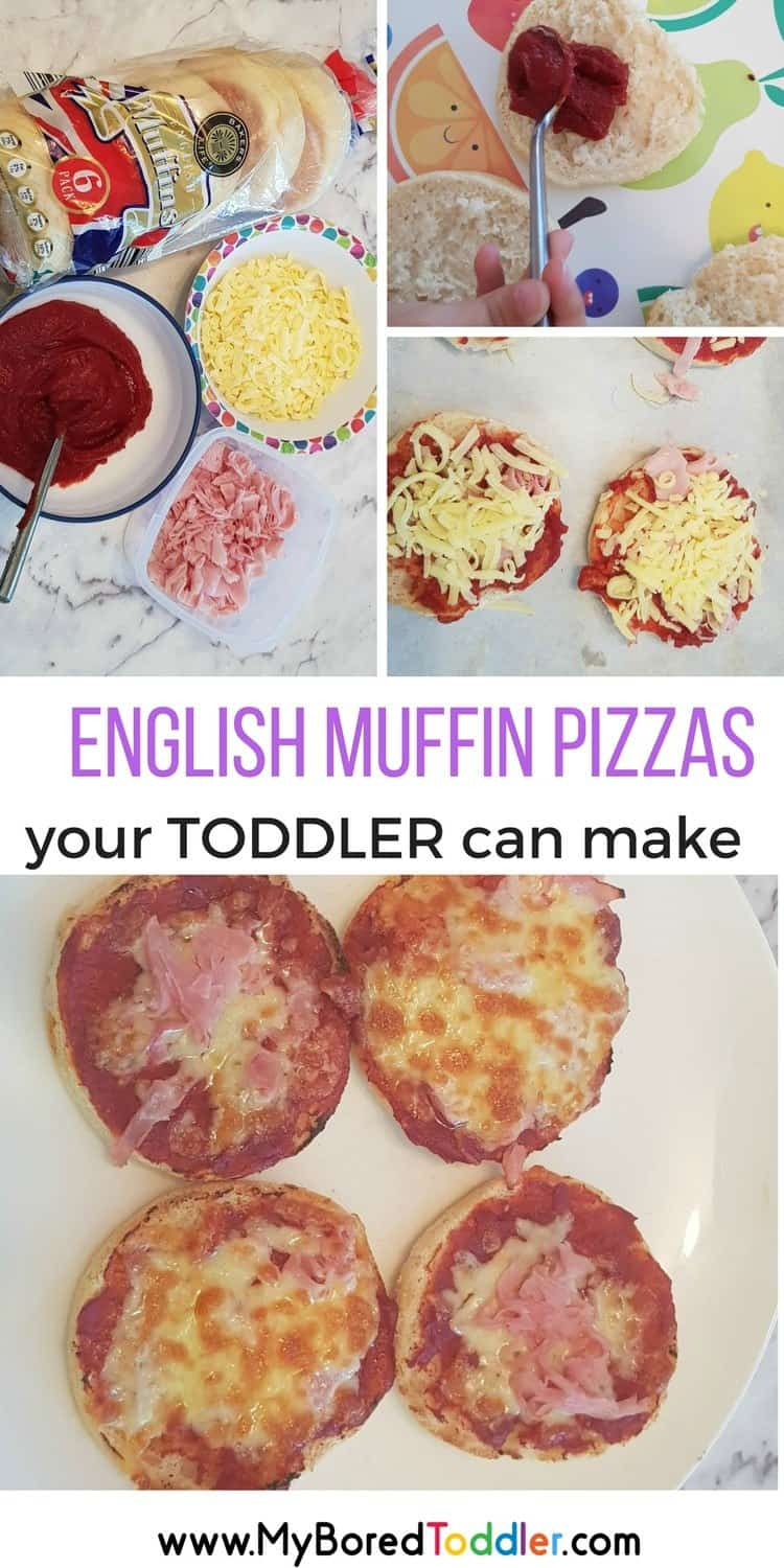 Easy English Muffin Pizzas Your Toddler Can Make My Bored Toddler