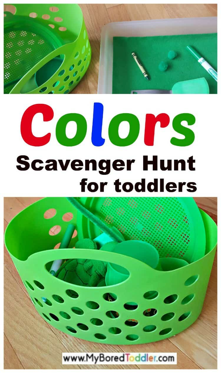 Color Recognition Scavenger Hunt - My Bored Toddler