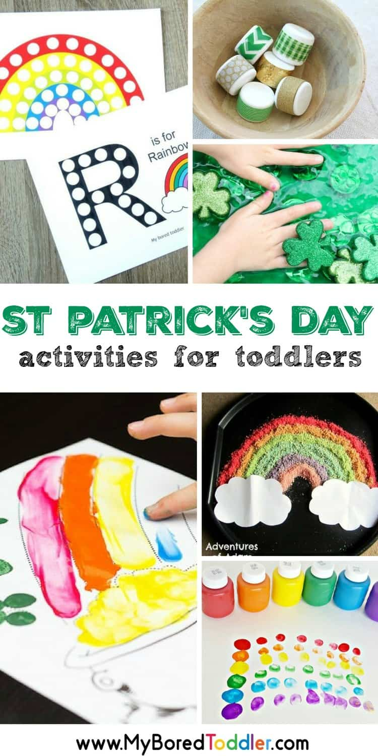 st patrick's day activities for toddlers Over 20 fun and easy activities for toddlers that are perfect for St Patrick's Day #stpatricksday #toddlercrafts #toddleractivities