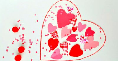 Valentine S Day Collage Craft For Toddlers My Bored Toddler